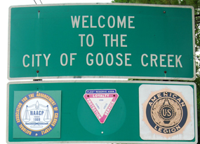 NAACP Goose Creek sign